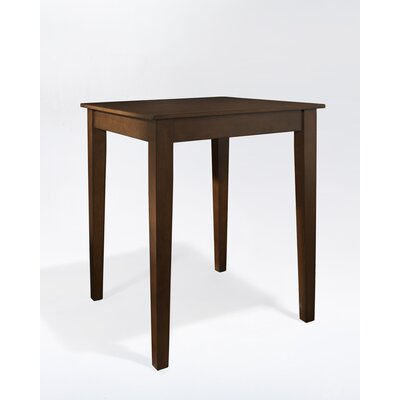 Crosley Tapered Leg Pub Table in Vintage Mahogany