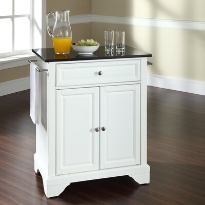 Crosley LaFayette Kitchen Island with Granite Top