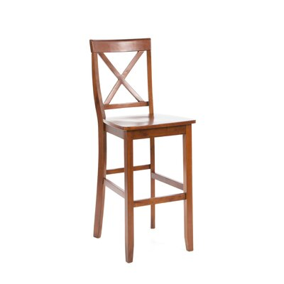 "Crosley X-Back 30"" Barstool in Classic Cherry"