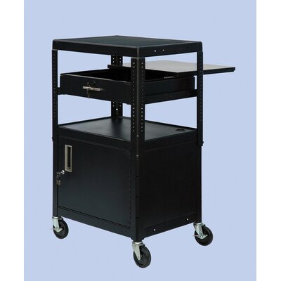 "VTI 26"" - 42"" Adjustable Equipment Cart with Cabinet"