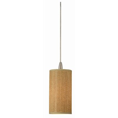 Organic Modern Pendant Shade in Natural Grasscloth