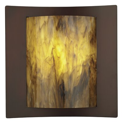Philips Forecast Lighting Bow Wrap Light Amber Etched Wall Sconce Shade