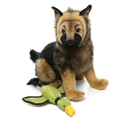 Hyper Products Mini Flying Duck Dog Toy in Green