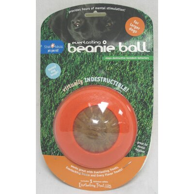 Starmark Beanie Dog Ball Toy in Orange