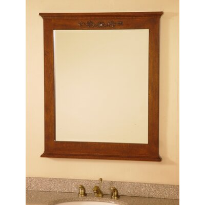 "Lanza 30"" Bathroom Vanity Mirror in Royal Brown"