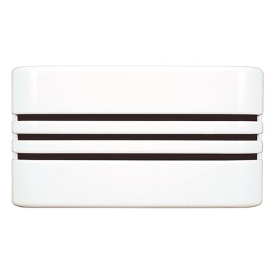 Classic Décor Wired Door Chime with Decorative Linear Design