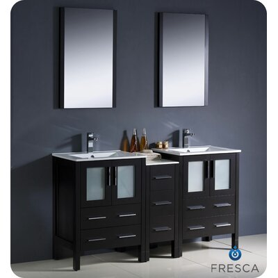 "Fresca Torino 36"" Modern Bathroom Vanity with Side Cabinet and Undermount Sink"