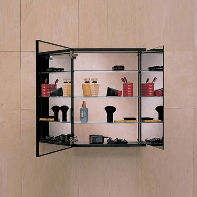 PL Series Flat Tri-view Mirrored Door Cabinet