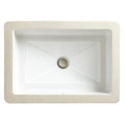 Marquee Rectangle Medium Undermount Bathroom Sink with Overflow - 12060-00