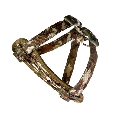 Chestplate Dog Harness in Green Camo