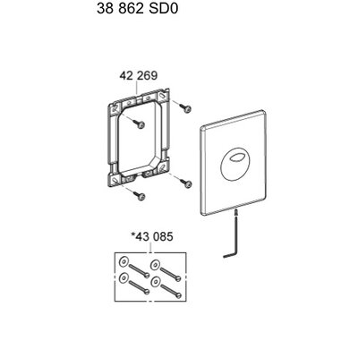 Grohe Surf Wall Plate for AV1