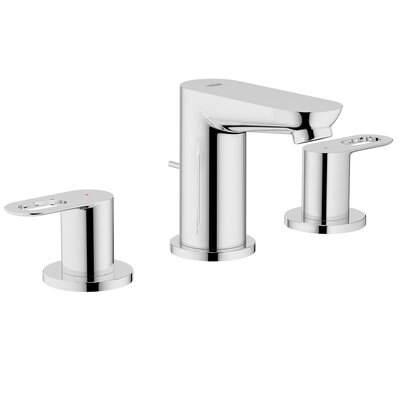Grohe BauLoop Double Handle Widespread Bathroom Faucet