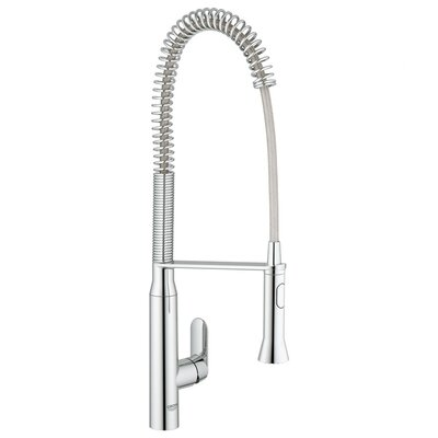 Grohe K7 Semi-Pro Single Handle Single Hole Bar Faucet with Watercare