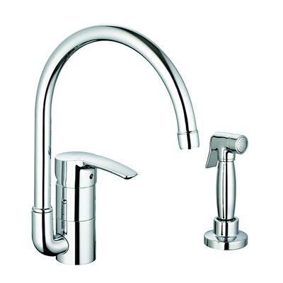 Grohe Eurostyle Single Handle Single Hole Kitchen Faucet with Side Spray with Watercare