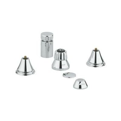 Geneva Vertical Spray Widespread Bidet Faucet Less Handles
