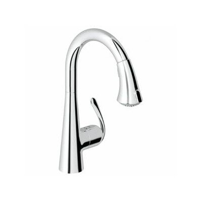 Grohe Ladylux3 Main Single Handle Single Hole Kitchen Faucet with Dual Spray Pull Down