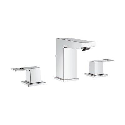 Eurocube Widespread Bathroom Sink Faucet with Double Lever Handles - 20370000
