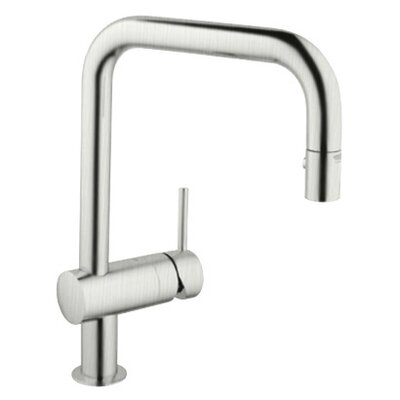 Grohe Minta High Profile Single Handle Single Hole Kitchen Faucet with Pull Down Spray