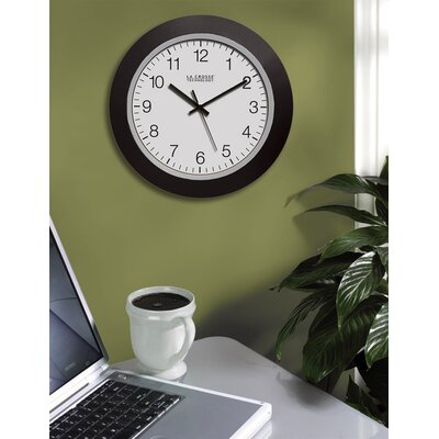 "La Crosse Technology 10"" Black Atomic Wall Clock"