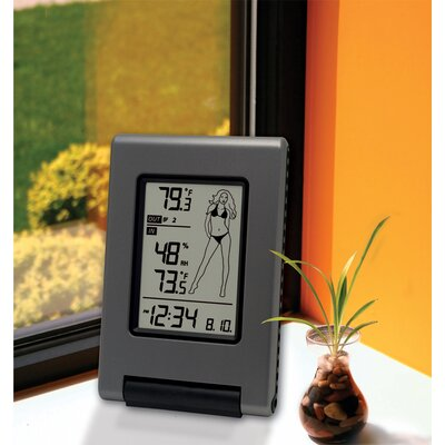 "La Crosse Technology Wireless Temperature Station with Advanced ""Weather Girl"" Icon"