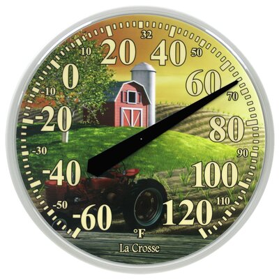 La Crosse Technology Farm Round Thermometer