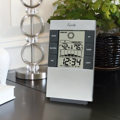 La Crosse Technology Equity By La Crosse Desktop Temperature Station with Time Alarm