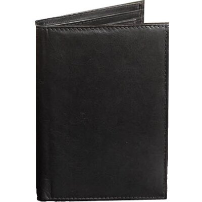 Leather Travel Passport Wallet with Twelve Credit Card Pockets