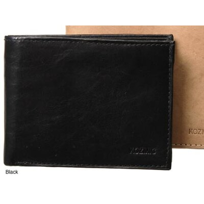 Leather Bifold Wallet with Twelve Credit Card Holder