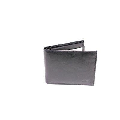 Leather Bi Fold Quadra Flip Up Double ID Wallet