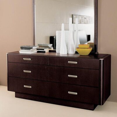 YumanMod Meti 6 Drawer Double Dresser with Mirror