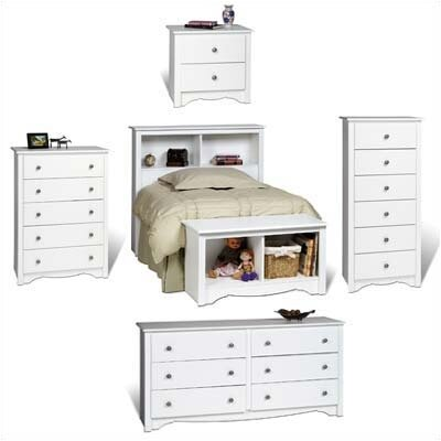 Prepac White Monterey Headboard Bedroom Collection