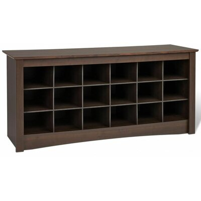 Prepac Sonoma Wood Cubbie Storage Bench