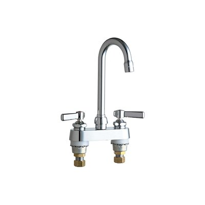 Chicago Faucets Centerset Bathroom Sink Faucet with Double Lever Handles