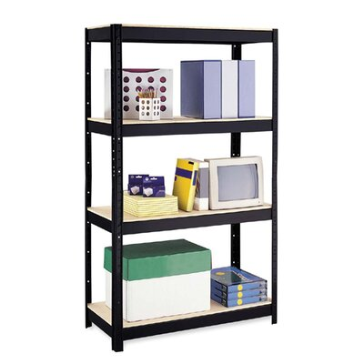 "Hirsh Industries 500 Series 3-Shelf Unit , 4-Shelves, 36""x16""x60"", Black"