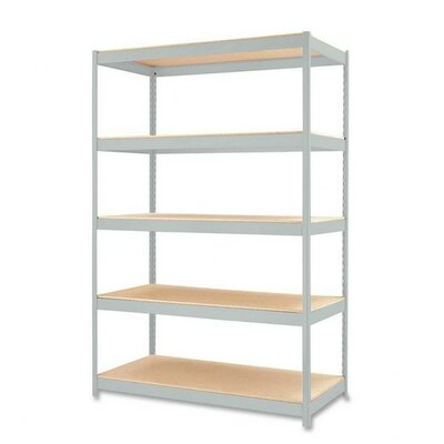 "Hirsh Industries Heavy-duty Industrial Shelving Unit, 48""x24""x72"", Light Gray"