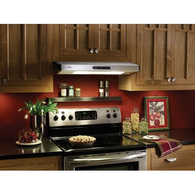 "Broan Nutone 30"" Under Cabinet Range Hood with 280 CFM in Stainless Steel"