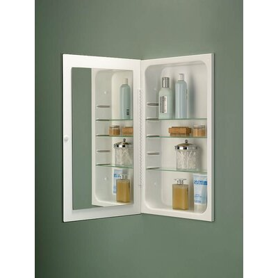Frameless Single Door Recessed Cabinet with Exterior Mirror