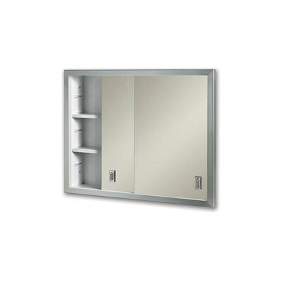 Specialty Contemporary Sliding Door Recessed Cabinets