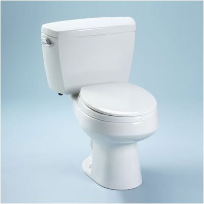 Toto Carusoe Round Toilet and Streamline Tank with Cover