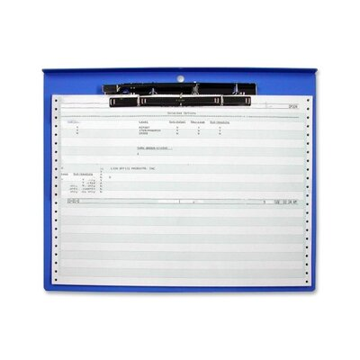 "Lion Office Products Computer Printout Clipboard, 15-3/4""x12-3/4"", Blue"