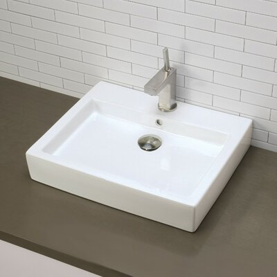 Classically Redefined Rectangular Vessel Bathroom Sink - 1444-CWH