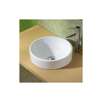 Classically Redefined Round Ceramic Vessel Bathroom Sink - 1426-CWH