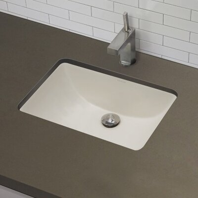 Classic Rectangular Undermount Bathroom Sink with Overflow - 1402-C