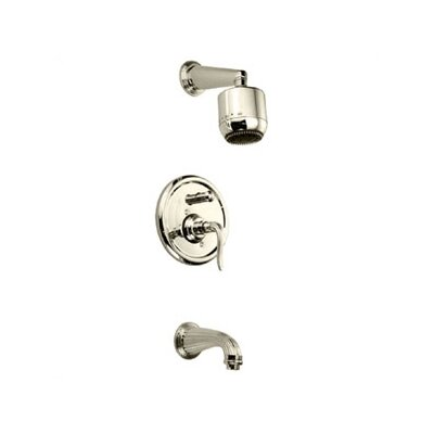 Jado Ornate Pressure Balance Tub and Shower Set with Lever Handle