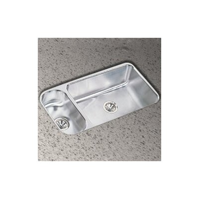 "Elkay 32.25"" x 18.25"" Double Bowl Undermount Kitchen Sink"