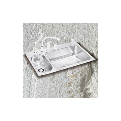 "Elkay Lustertone 33"" x 22"" Double Bowl Kitchen Sink"