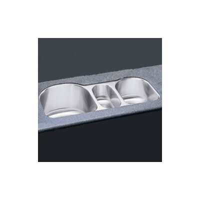 "Elkay 39.5"" x 20"" Undermount Triple Bowl Kitchen Sink"