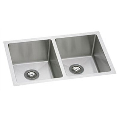 "Elkay Avado 30.75"" x 18.5"" Double Bowl Kitchen Sink"
