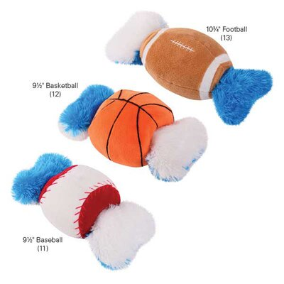 Grriggles Champion Double Tugger Football Dog Toy