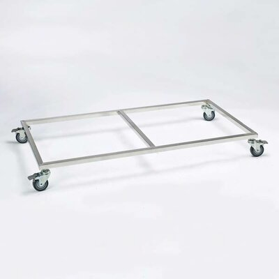 ProSelect Modular Cage Base with Wheels in Stainless Steel